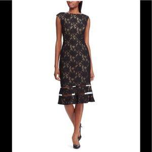 Lauren Ralph Lauren black & champagne lace dress 2